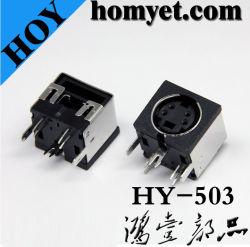 Connecteur DIN avec quatre aiguilles pour le câblage de l'équipement (HY-503)