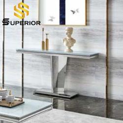 Бытовые кухонные прямоугольные зеркального стекла боковой шкаф консольного стола из нержавеющей стали