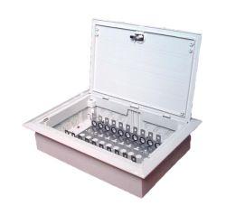 Caixa de distribuição de montagem incorporada de plástico com 10-100 pares de terminais de telecomunicações para interior/porta uterina Caixa para módulo LSA Krone caixa de derivação de cabos de cobre (KRB-S-100P)