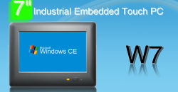El sistema operativo Windows CE 5.0 Industrial de 7 pulgadas táctil incorporado PC con RS232, RS485.