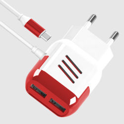 Ес/США разъем 5V2.1A адаптер зарядного устройства USB с помощью кабеля USB
