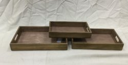 Vintage nostálgico de la Bandeja rectangular de madera/Té placa o el plato y plato de fruta.