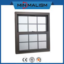 Liga de alumínio duplo/vidro corrediço penduradas com grelha/Design/vidro fixo/vidro de isolamento/Snack-bar Windows/up deslize/Comercial Vertical