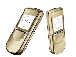8800 Sirocco GSM mobile déverrouillé d'or de luxe