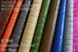 Bl1849 Crocodile gaufré Aritificial synthétique en PVC pour les sacs en cuir/PU/chaussures/ canapé/chaises