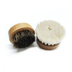 ヤギの毛の顔のクリーニングブラシ、柔らかいひげのブラシ