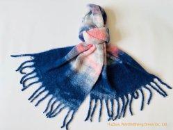 Gewebter Schal Mit Seideneffekt Und Gebürstetem Schal Für Damen Im Winter