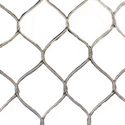 1.2-3 mm Stainless Steel Animal Fence Stainless Steel Wire Rope Zoo Wire Mesh
