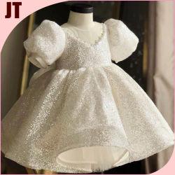 فتاة الأميرة اللباس متوتر في لاس تنورة لباس الطفل اللباس اللباس فقاعة Sleeves Little Girl Dress Up أزياء الأطفال اللباس Garment