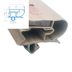 غلازر مخصص / فريزر / ثلاجة مغناطيس مطاط مانع تسرب على شكل جنزير مصنع الصين للمصانع