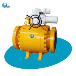 オイルによって作動させた造られた鋼鉄取付けられた球のタイプ制御緊急停止止められたESD Esdvの弁上の電気空気油圧ガスはトラニオンによってフランジを付けたようになった