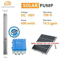 Pomp voor diepe putjes van de RVS Solar-waterpomp. Dompelpomp voor boreholen Met MPPT-regelaar voor industriële thuisgebruik