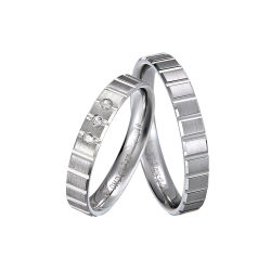 Moda 925 Sterling bodas de prata anéis com CZ definição em jóias de prata esterlina