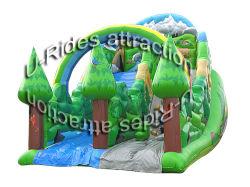 China barato slides inflatables grande seca insufláveis/ escorregas de água com arch para crianças e adultos