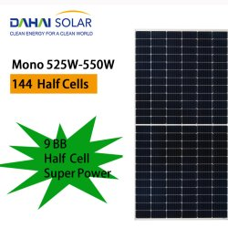 Dahai Brand Mono Silicon Solar Panel 450 واط بنصف خلية عالية الكفاءة في الأسهم أعلى فئة واحدة المصنع السعر pv اللوحة الشمسية