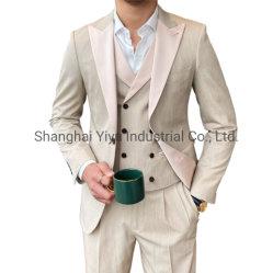 Costumes d'affaires formels sans plis à revers cranté pour hommes de qualité supérieure