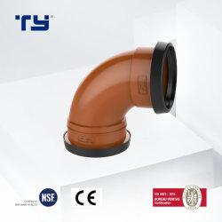 90 도 팔꿈치 최신 판매 배수장치 주황색 PVC 플라스틱 압축 이음쇠 증명서