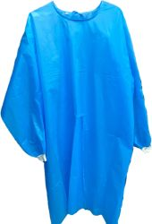 PP+PE45GSM AAAMI PB70 Level3/En13795 Blue Reflective Tape Surgical Gown
