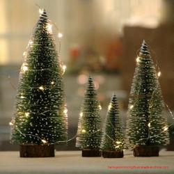 소형 크리스마스 나무 삼목 작은 크리스마스 나무 테이블 Windows 전시 크리스마스 선물 크리스마스 훈장