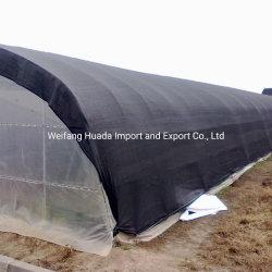 100% Nuevo HDPE Agricultura jardín invernadero de plástico negro Protector Solar Net