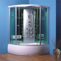 Tondo scorrevole vetro alluminio incorniciato doccia bagno cabina Prezzo 950