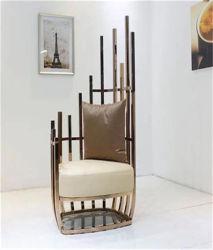 Presidenza del sofà del metallo per l'insieme del sofà della presidenza di Platner del metallo dell'acciaio al cromo della mobilia