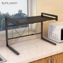 Four métalliques Stand Rack de stockage de l'organiseur détenteur d'épices de cuisine Supports micro-ondes extensible