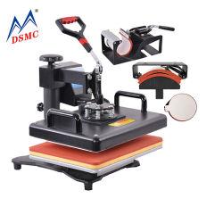 Preiswerter Preis 8 in 1 kombinierter Wärme-Presse-Maschinen-Sublimation-Becher-Shirt-Drucken-Maschine
