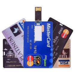 Nouvelle carte de crédit Slim USB Pen Drive 2.0 Flash 4 Go 8 GO de 16Go et 32 Go 64 Go de la Banque HSBC Lecteur Flash USB de carte de personnaliser le logo blanc Card USB
