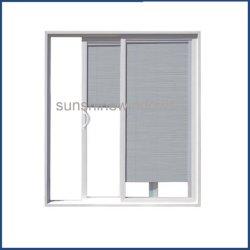 Пластиковые двери/PVC стекла боковой сдвижной двери с помощью экрана комаров и жалюзи стекло