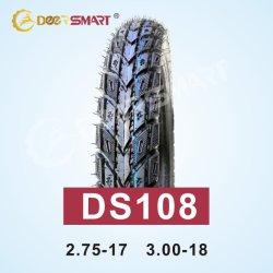La parte superiore della Cina che vende il motociclo delle Filippine stanca il pneumatico Mixed 3.00 18 del motociclo di Duro del reticolo Ds108 (TT/TL) di formato 3.00-18 della gomma di serie del fondo stradale