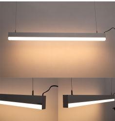 Aluminium de haute qualité 40W 60W 80W suspendu LED lumière linéaire pour le Bureau et Bureau de supermarchés Dispositif d'éclairage LED lumière linéaire