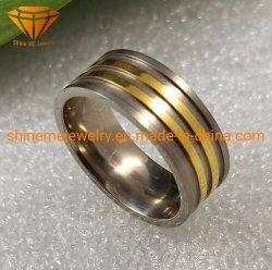 Hochwertige Finger-Ring-Form-Schmucksache-Titanhochzeits-Karosserien-Piercing Schmucksache-Ring Tr1928