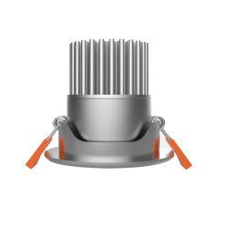 12 W, 15 W, Silbrig, Integrierte COB-LED-Downlight