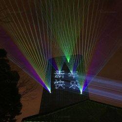 방수 고성능 RGB 30W에 의하여 자전되는 레이저 광 경계표 Laser