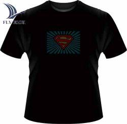 Moda e LED lampeggiante TShirt stampa personalizzata logo LED T-shirt con musica attivata