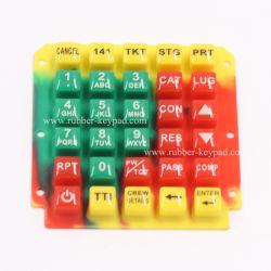 カスタマイズされた水晶エポキシまたは樹脂のコーティングキーパッドまたはカバーまたはキーボードシリコーンゴムボタン
