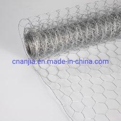 Electro superficie galvanizada Malla de Alambre Tejido Hexagonal para Granjas Avícolas