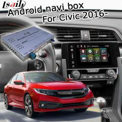 GPS van Lsailt het Androïde Systeem van de Navigatie voor Honda Civic 2016 - enz. VideoInterface met Carplay AchterMening Yandex Navi Waze enz.