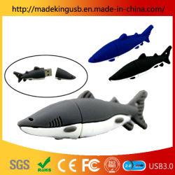 Los tiburones de PVC/ unidad Flash USB Pen Drive de personalización de animales marinos