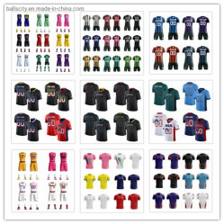 Commerce de gros Custom SUBLIMATION Maillot Rugby Jersey T-shirts Tee-shirts Basketball Maillot de football
