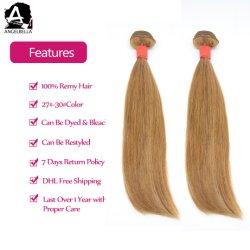 Cheveux humains indiens Angelbella Remy Tissage de cheveux soyeux de la partie droite
