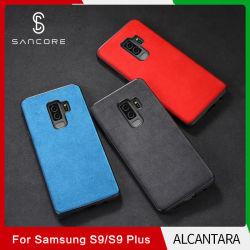 Sancore Alcantara Sumsang autocollant au dos d'affaires étui pour téléphone mobile