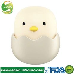 Smart LED du capteur de lumière caricature de la coquille des oeufs de silicone de poulet de la lampe Veilleuse pour bébé enfant pépinière cadeau d'anniversaire