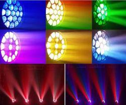 19ПК*15Вт Светодиодные Disco этапе лампы оборудования 4 в 1 перемещение головки блока цилиндров с зумом DJ света для освещения дискотека/DJ/партии