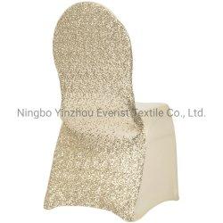 La ostentación Sequin estirar Spandex Presidente cubierta para el Banquete y Wedding-Champagne-Cu