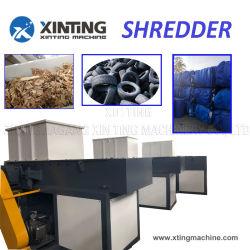 Seul l'axe double bois/PP/PE/PVC/Teflon/Pet/PEHD/LDPE bouteille du tuyau de déchets de plastique forfaitaire du tambour d'une meuleuse concasseur /conteneur de la machine/film/Déchiqueteuse de caoutchouc de pneus de camion