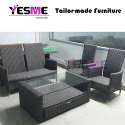 Meubles en rotin de plein air Table à manger ensemble canapé de salle à manger de l'hôtel