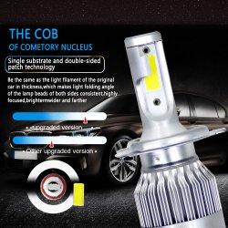 C6 LEIDENE van de Bollen van de Koplamp van de LEIDENE Auto van de Lamp Auto AutomobielH1 H4 H7 H11 Lamp 12V 50W 8000lm 6500K