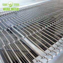 Food Machinery malla de alambre de acero inoxidable cinta transportadora cinta transportadora cinta transportadora de la banda de metal